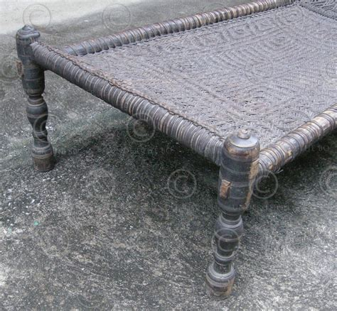 Swat Charpoy, Couch F16. Early 20th Cent. Pakistan