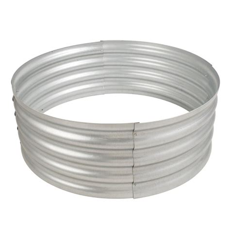 galvanized pit ring pleasant hearth infinity 36 in galvanized steel ring