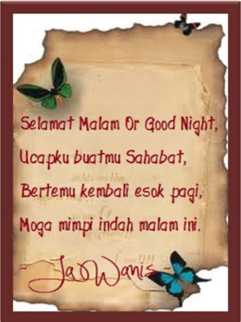 nukilan jiwa jawanis  nur  ain selamat malam  good night sahabat