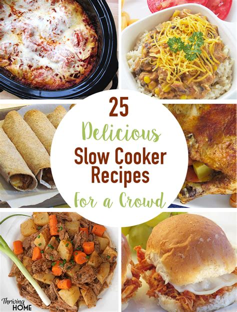 delicious slow cooker recipes  feed  crowd
