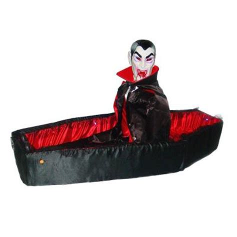 Diy Halloween Coffin Prop by 5 Ft Animated Vampire With Cloth Coffin 0360 45084hdd