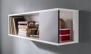 Etagere Murale Angle : tag re murale fixer en bois blanc et gris graphite chambre ado ~ Teatrodelosmanantiales.com Idées de Décoration