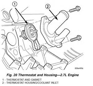 similiar sebring 2 7 thermostat keywords dodge intrepid 2 7 engine diagram thermostat location get image