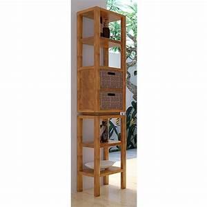 Meuble De Salle De Bain Teck : meuble haut de salle de bain teck kudus ~ Dailycaller-alerts.com Idées de Décoration
