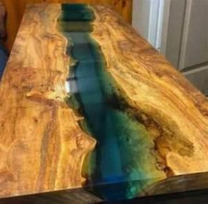 Table En Bois Et Resine : r sultat de recherche d 39 images pour resine epoxy table bois agencement bois diy ~ Dode.kayakingforconservation.com Idées de Décoration