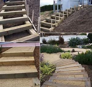 gartentreppe selber bauen 35 inspirationen gardens With whirlpool garten mit balkon treppe selber bauen