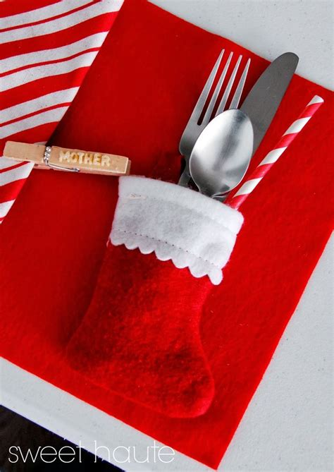 ideas  christmas place setting  pinterest