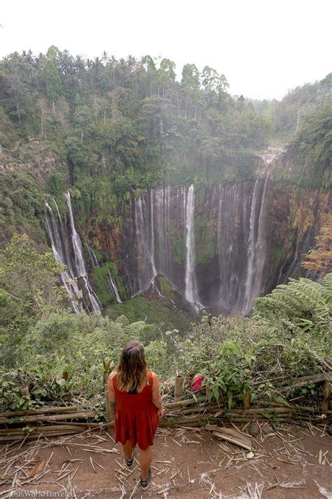 tumpak sewu waterfall  east java indonesia  world
