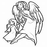 Coloring Angel Pages Printable Angels Christmas Wings Request Coloringme Coloringkidz Keyword Flower Thesunflowerpages sketch template