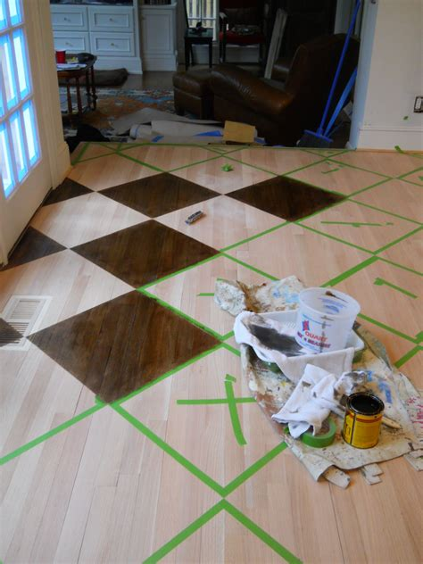wood floor tutorial painted wood floors flooring diy