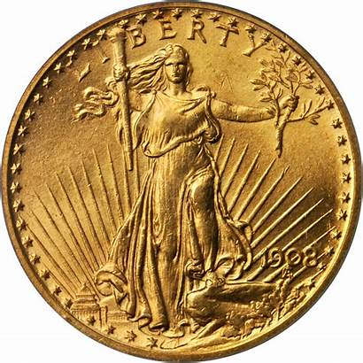 Gold Gaudens St 1908 Value Coins Dollars