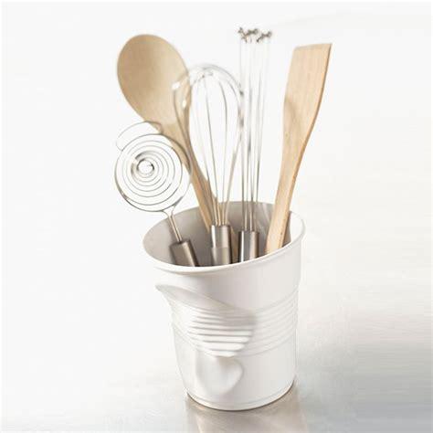 ustensile de cuisine design pot à ustensiles 1l froissés blanc revol pots à