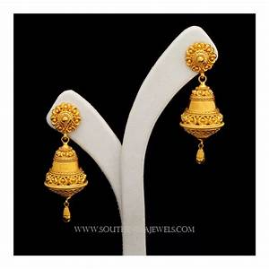 22 Carat Gold Jhumka Designs Gold Jhumka Designs With Weight And Price South India Jewels