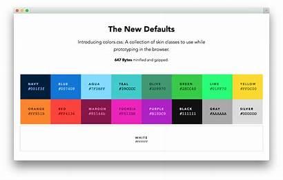 Colors Palette Web Names Simple Values Which