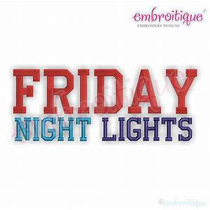 other categories all products friday night lights With block letters with lights