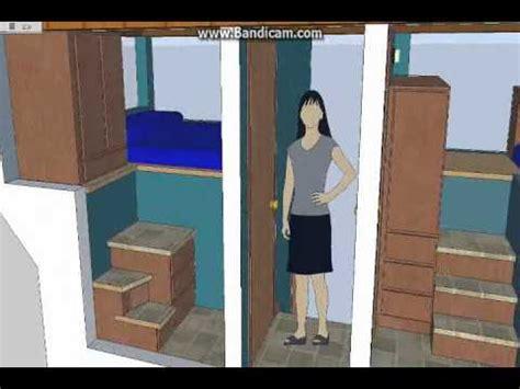 split level bedroom split level 5 room tiny house tiny house design sketchup