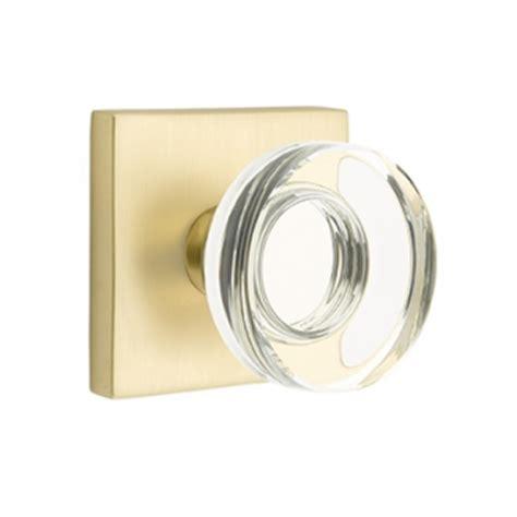 emtek modern disc crystal door knob set  price door knobs