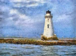 Tybee Island Lighthouse Painting by Lynne Jenkins