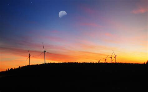 Sun Moon And Stars Wallpaper 38 High Def Wind Turbine Pictures From Around The World