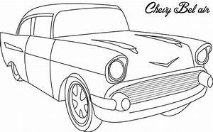 chevy bel air old car coloring page chevy bel air old car With 1956 chevy bel air