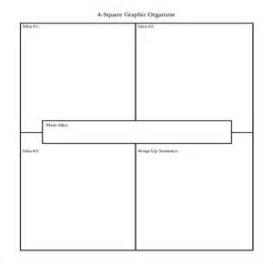 Four Square Graphic Organizer Template