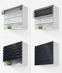 Rideau Coulissant Pour Meuble : meuble de cuisine avec rideau coulissant mobilier design ~ Teatrodelosmanantiales.com Idées de Décoration
