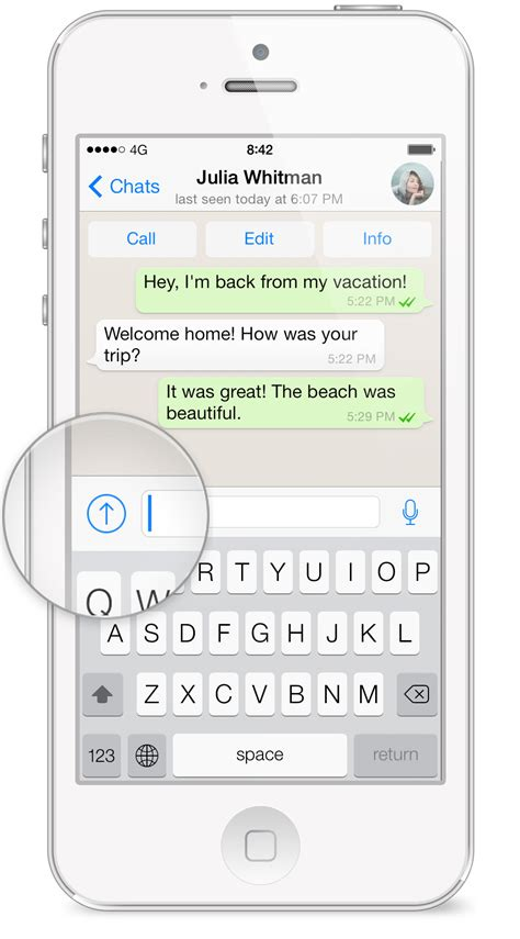 how to send pictures from iphone whatsapp faq how do i send media contacts or location