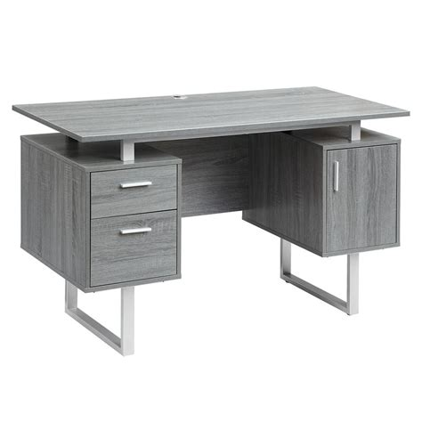 Office Desk Gray by Techni Mobili Gray Modern Office Desk With Storage Rta