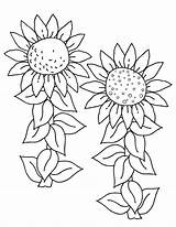 Sunflower Coloring Pages Print sketch template