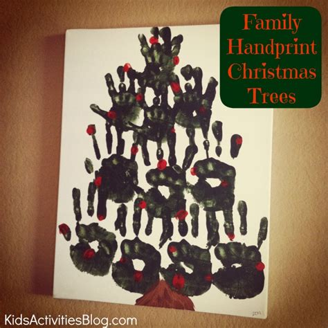 family oriented december activities including handprint