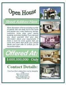 Open house flyer template free for mortgage open house for Free mortgage flyer templates