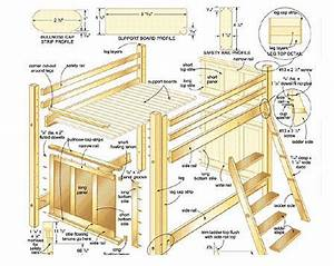 Diy Loft Bed Plans Free College Lofts Basic In Plan
