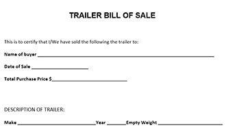 florida proof of vin form trailer bill of sale