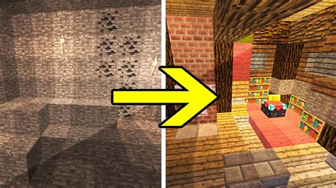 Transforming Redstone Cave (cave Into A Redstone House