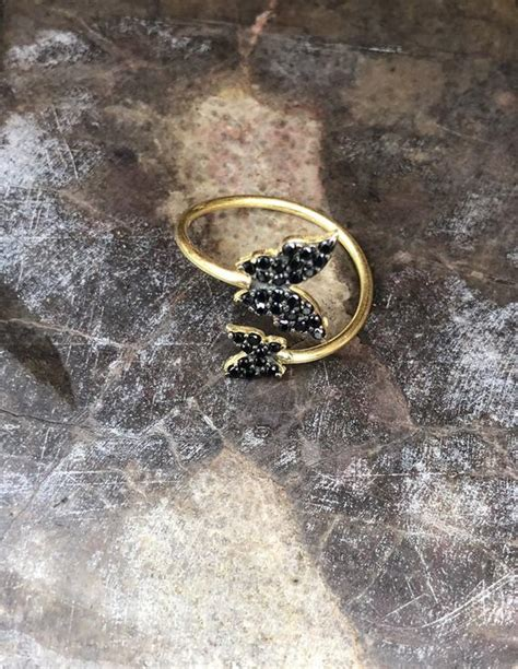 butterfly ring an 18k gold etsy