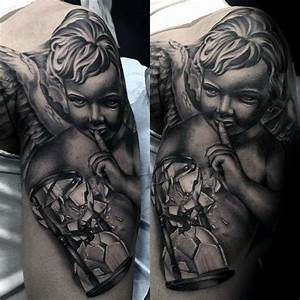 52 Stunning Angel Statue Tattoo Designs About Angel ...