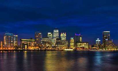 London Night Background Skyline Wallpapers Desktop Salesforce