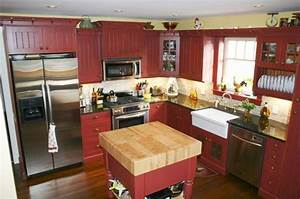 Red country kitchen best design for big small kitchen for Red country kitchens