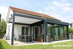 Veranda Rideau Pergola : veranda avec pergola fabrication et installation de v randa en alu de qualit veranco ~ Melissatoandfro.com Idées de Décoration