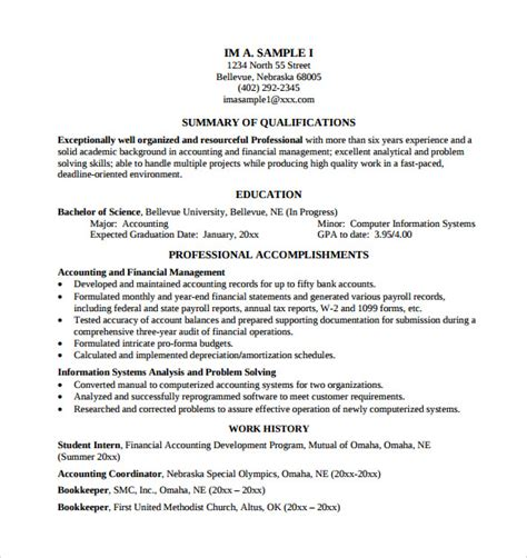 sle academic resume 8 free documents in