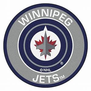 FANMATS NHL Winnipeg Jets Gray 2 Ft 3 In X 2 Ft 3 In