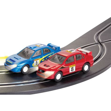Electric Operated Cars by Rally Racer Electronic Car Racing Track Set With A Pair Of