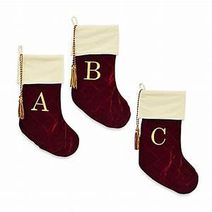 buy harvey lewistm monogram christmas stocking made with With stocking monogram letters