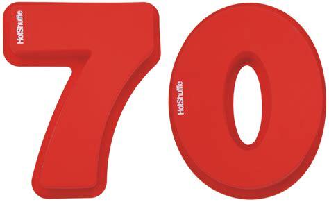 large 70th birthday anniversary number 70