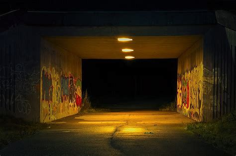 tunnel night grim  photo  pixabay