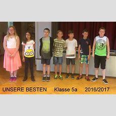 Unsere Besten Im Schuljahr 2016  2017 Kemmlerschule