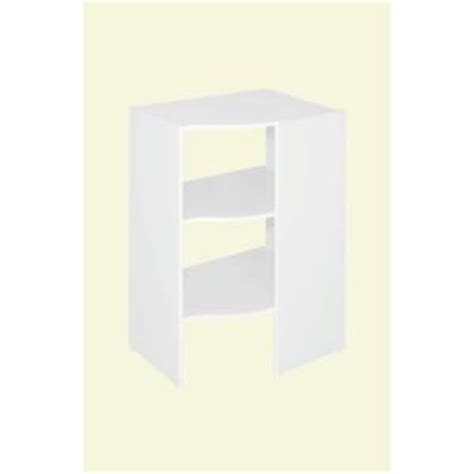 closetmaid corner shelf organizer closetmaid selectives 20 in x 41 5 in x 29 in 3 shelf