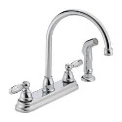 kitchen faucet with spray delta faucet p299575lf apex 2 handle side sprayer kitchen faucet atg stores