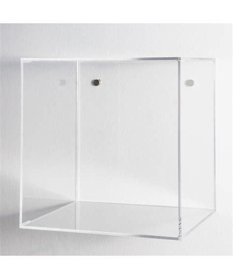 mensola trasparente mensola cubo l35xh35xp20 in plexiglass trasparente