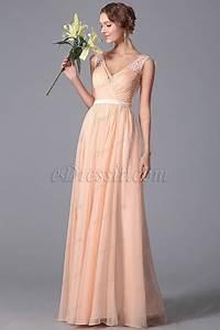 robe demoiselle d39honneur longue sans manche dentelle With robe demoiselle d honneur peche